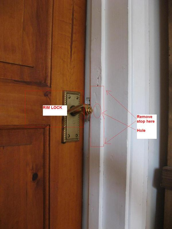 Can A Rim Lock Be Fitted To A Door The Quot Wrong Way