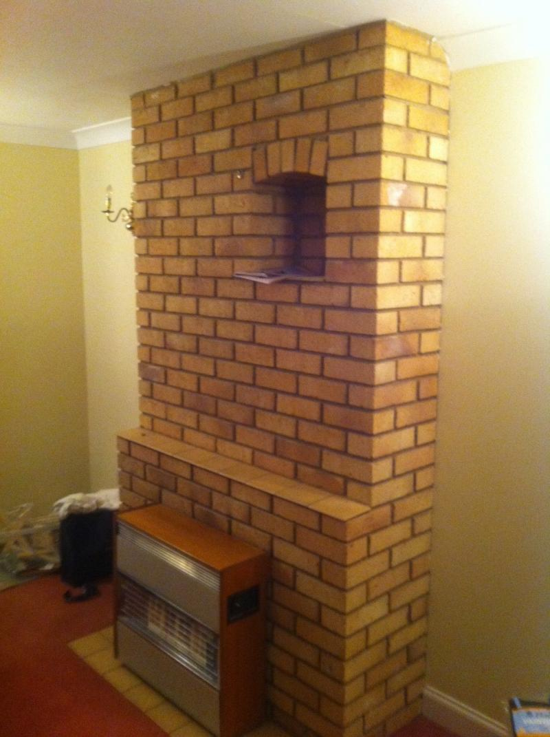 Back boiler removal and chimney breast modification ...