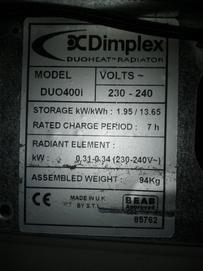 Dimplex Duoheat Duo400i Storage Heater Diagnosing Fault Diynot Common Light Fitting Problems Forums Andrew