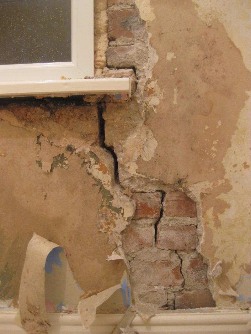 What Is Gap >> large crack under window | DIYnot Forums