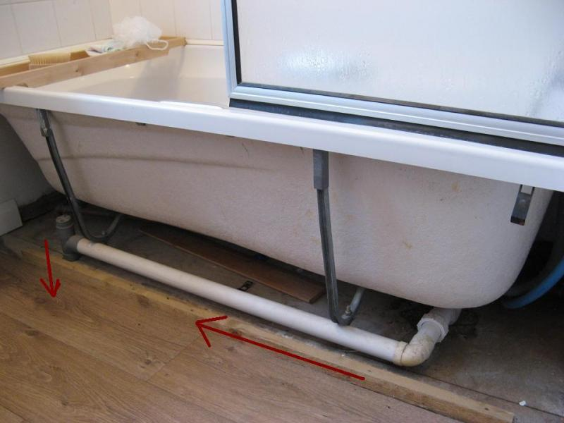 Bath waste pipe going up hill is it ok diynot forums for Bath waste pipe