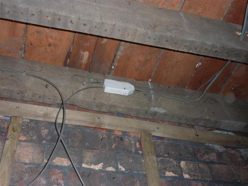 Boring lighting diagram check diynot forums connected to live lights circuit and today fitted the junction box ready to supply the two spot lights that will sit eitherside of the chimney breast cheapraybanclubmaster Choice Image