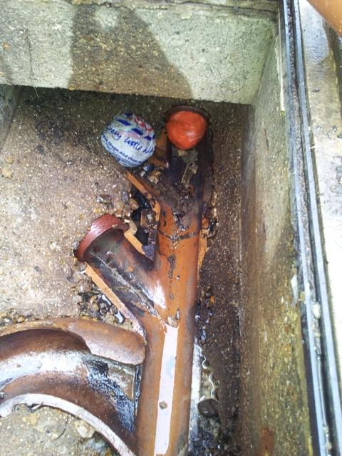 Replacing underground drainage clay with plastic – how do yo