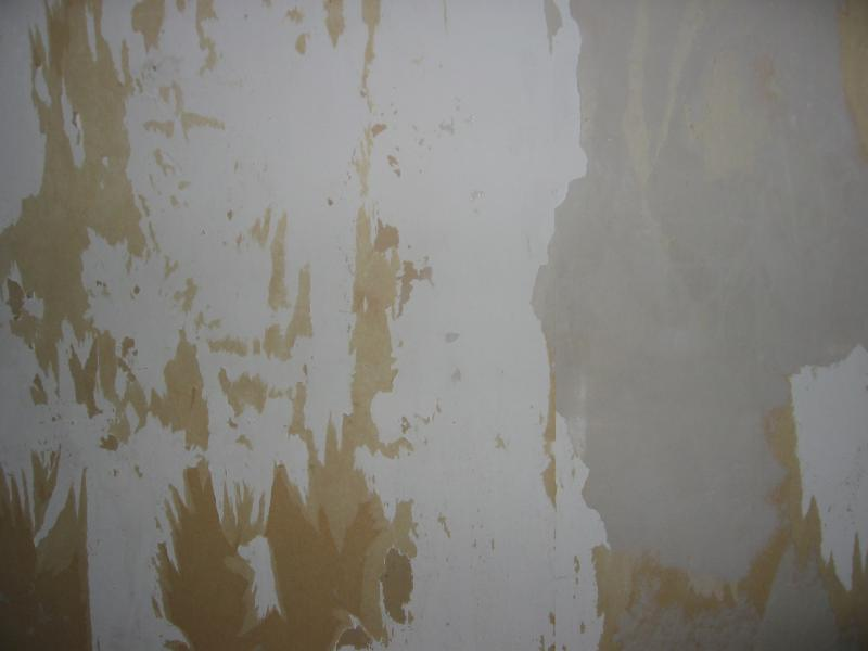 Plasterboard Walls In A Right State After Removing