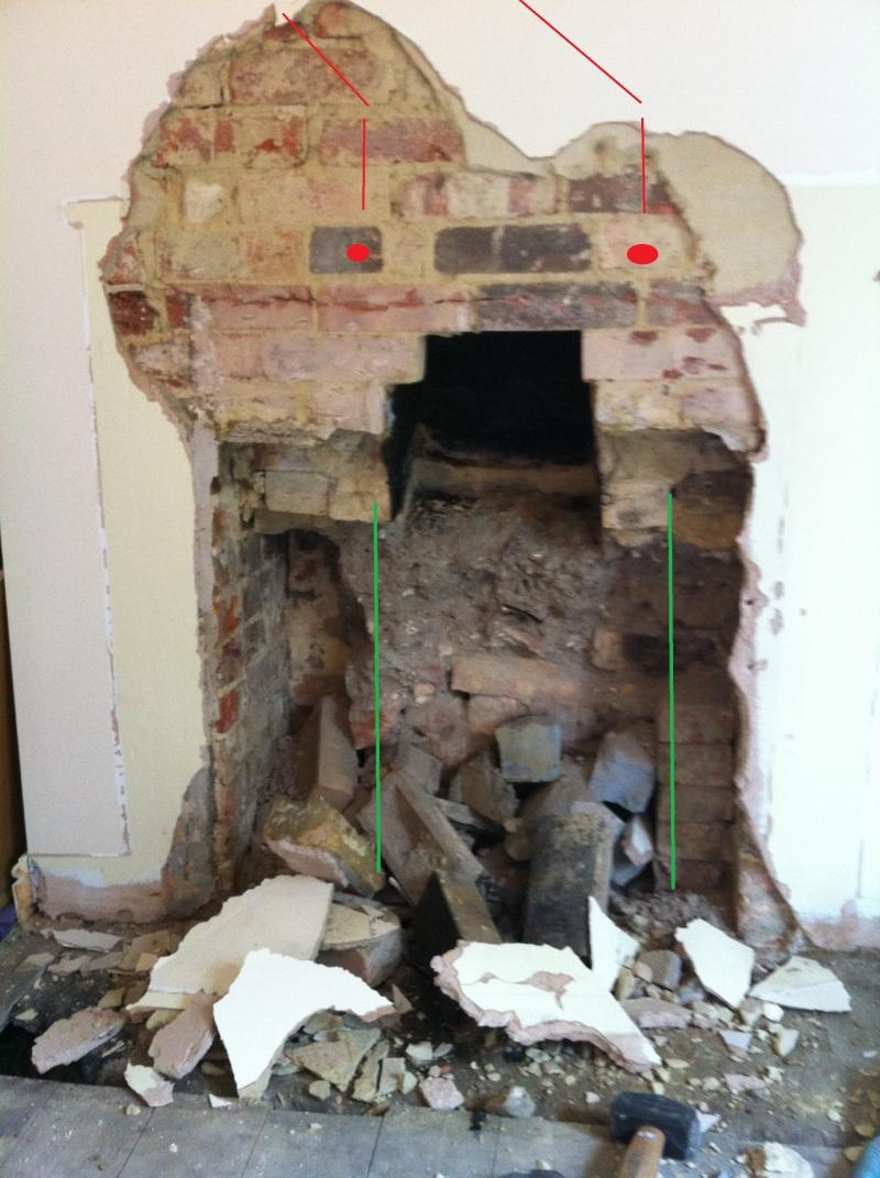 Victorian fireplace opening lintel and construction for Fireplace chimney construction
