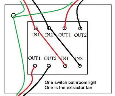 Replacing a bathroom light/fan switch ... connections ...