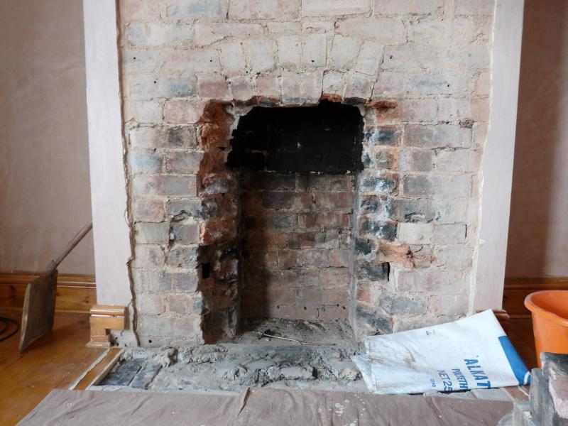 Help with widening fireplace, adding lintel for log burner ...