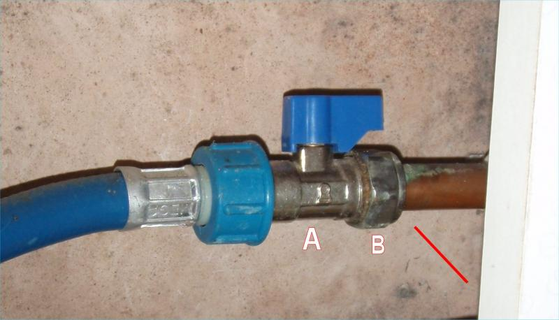 Cold water valve - small leak | DIYnot Forums