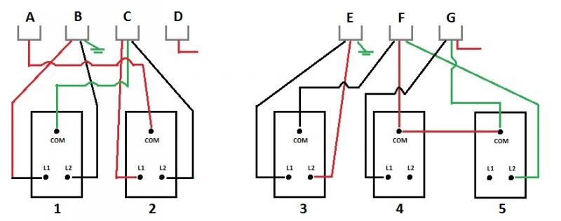 Wiring Diagram For A 3 Gang 2 Way Switch : Way switch wiring drama diynot forums