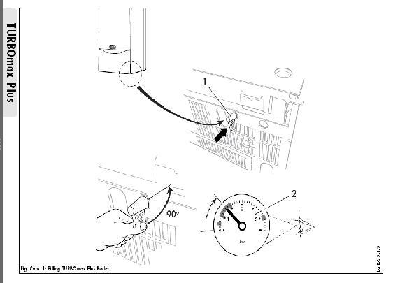how to refill vaillant turbomax plus
