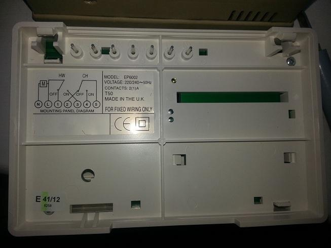 potterton ep6000 programmer panel goes blank diynot forums potterton profile fault codes at Potterton Ep6002 Wiring Diagram