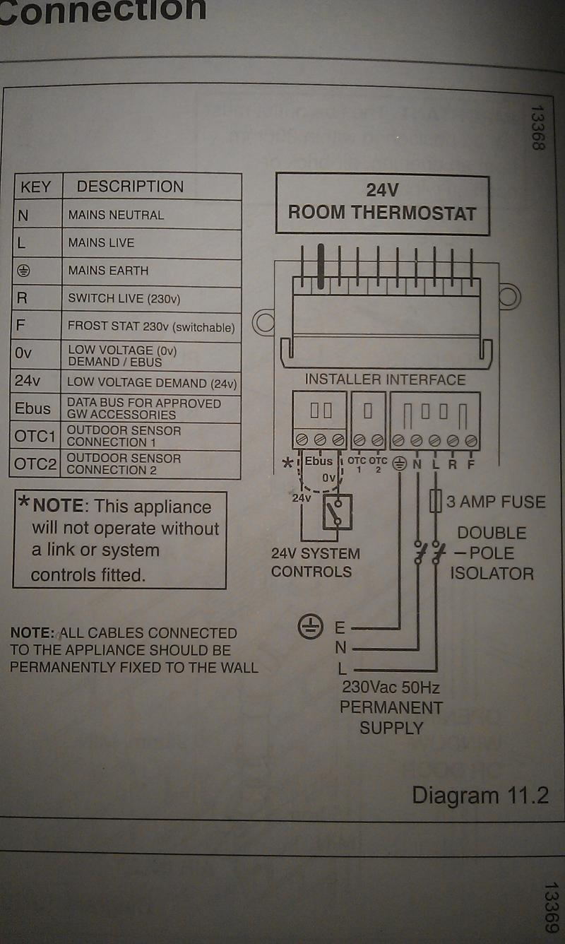 Diagram Wiring Cm927 To A Combi Ultracom Cxi Glow Worm