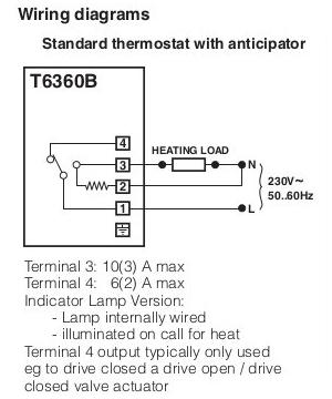replacing honeywell tb thermostat horstmann asr zw the earth terminal has an earth connection