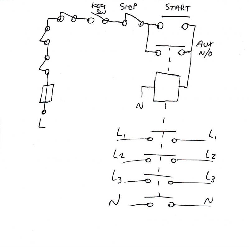 Em stop diagram needed diynot forums not sure if a relay would be up to the job we have always used contactors this is how it would be done using the aux block asfbconference2016 Choice Image