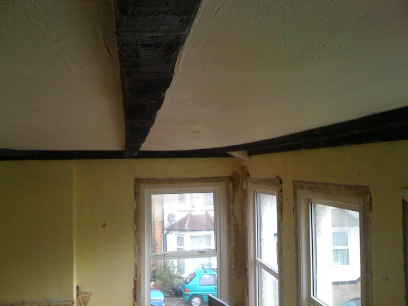 Here Are Some Images Of The Ceiling Not Sure How Well It Shows Bowing