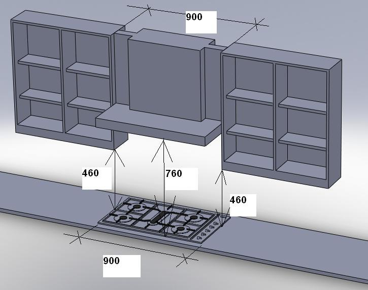 Gas regulations regarding hob to kitchen wall unit spacing - Clearance kitchen cabinets or units ...