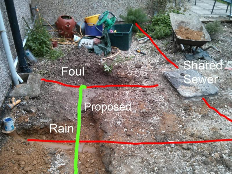 Drain Sewer Design Connect Foul To Rain Branch Diynot