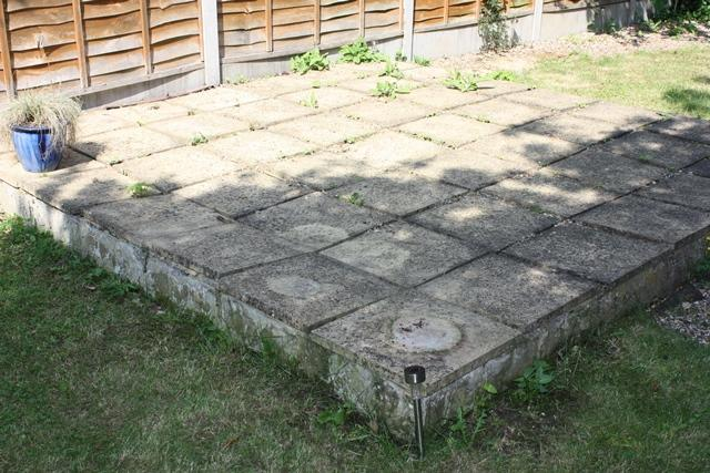 Awesome Hi Guys, I Need Some Advice On How To Adress Covering This Patio With  Decking. As You Can See From The Images, The Paving Slabs Are Very Un  Even.