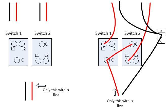 change 2 gang 1 way light switch in kitchen wiring probs 2 gang 1 way light switch wiring diagram uk