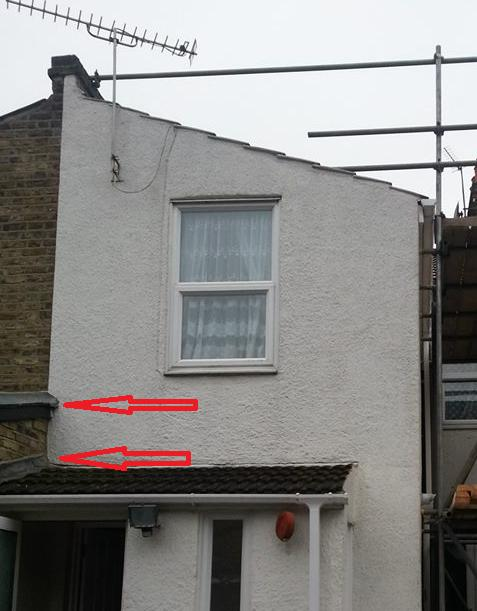 New Loft Roof Overhanging Party Wall Diynot Forums