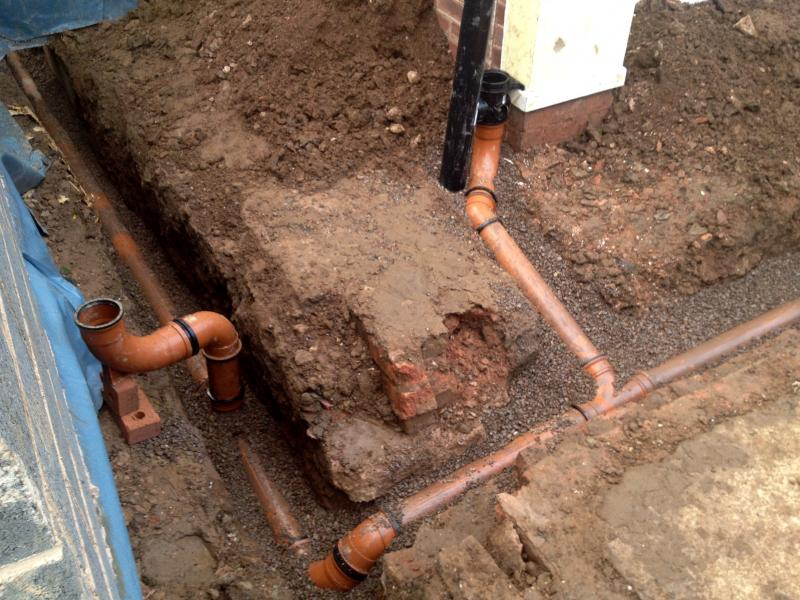 Laying underground drains page 2 diynot forums for Underground drainage layouts