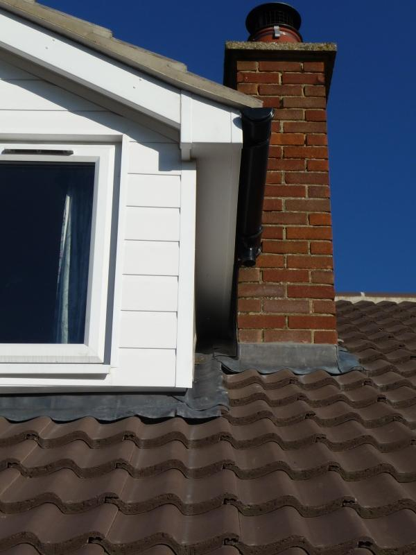 Image Shows What Was An Existing Dormer That Had Been Converted From A Flat Roof To Pitched Hence Why It Is So Close Chimney With Insufficient Space
