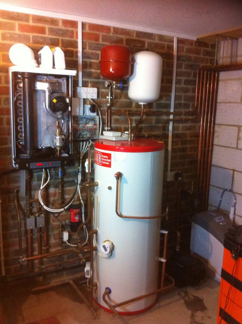 cost of unvented cylinder and system boiler installation
