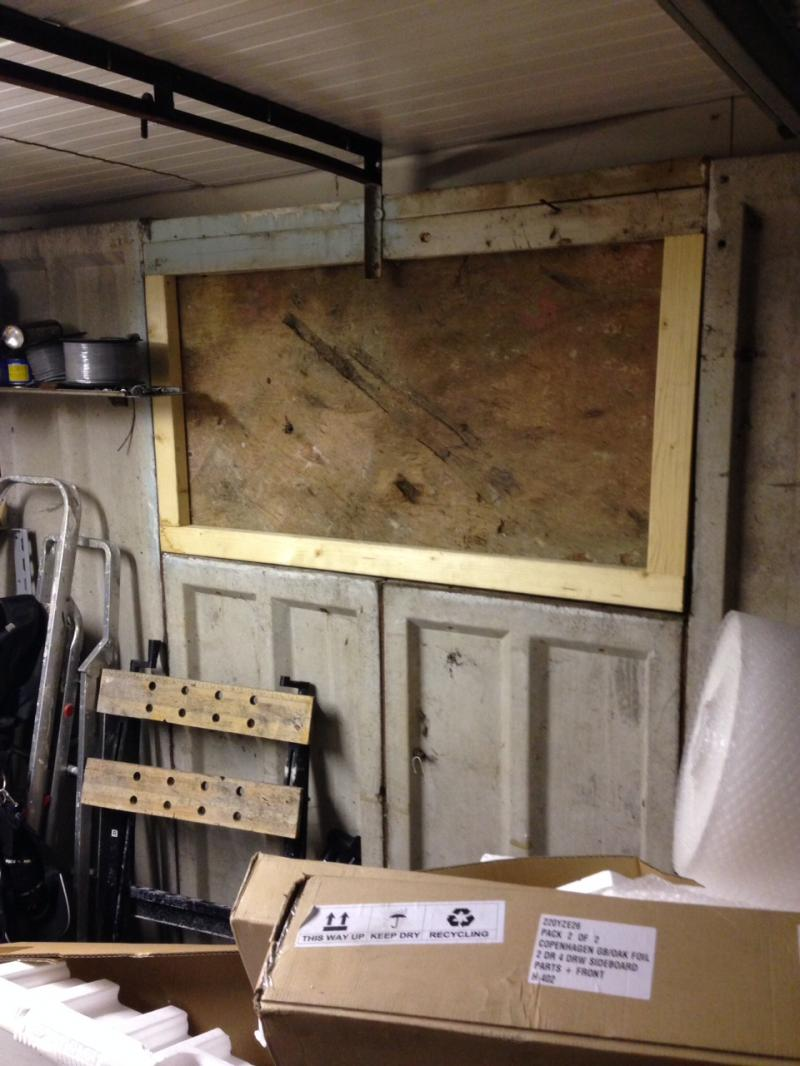 Replacing Side Window In Sectional Concrete Garage