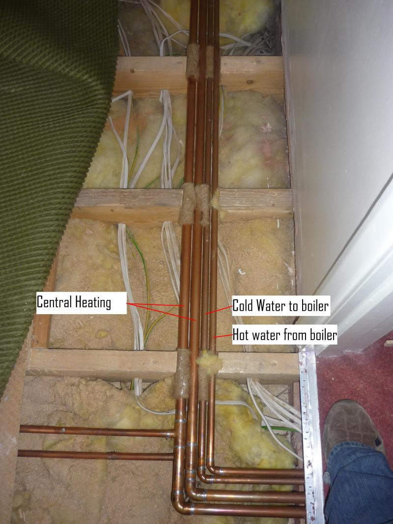 Routing all pipes together? | DIYnot Forums
