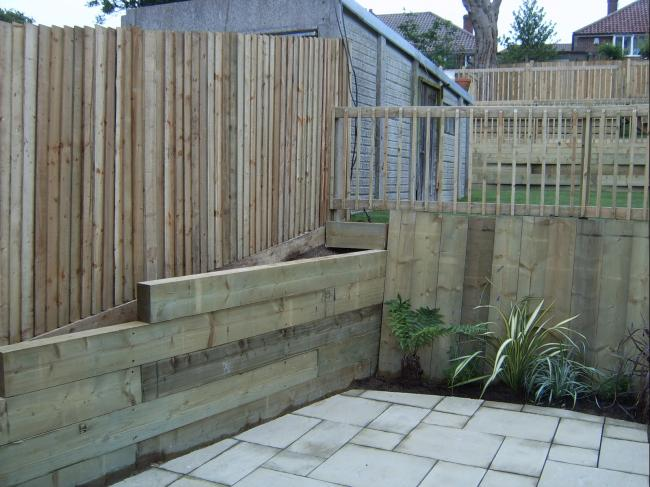 First Course Of Sleeper Retaining Wall Diynot Forums