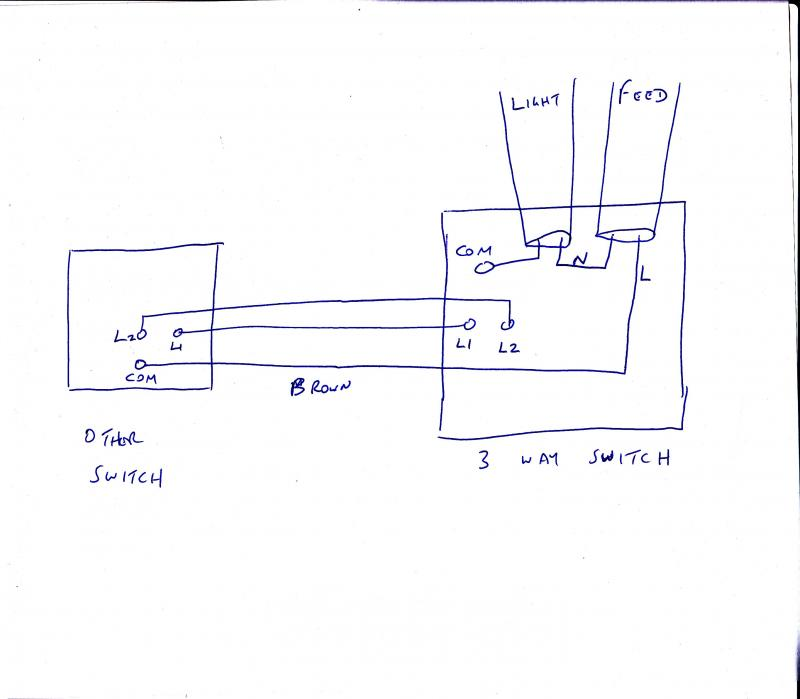 Is this 3way switching without an intermediate? | DIYnot Forums