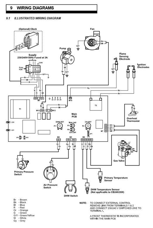 combi boiler wiring diagram wiring diagrams and schematics boiler thermostat wiring help page 1 homes gardens and diy