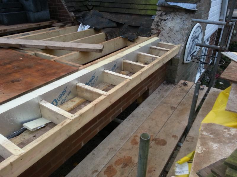 Joining Flat Roof To Existing Pitched Bungalow Roof