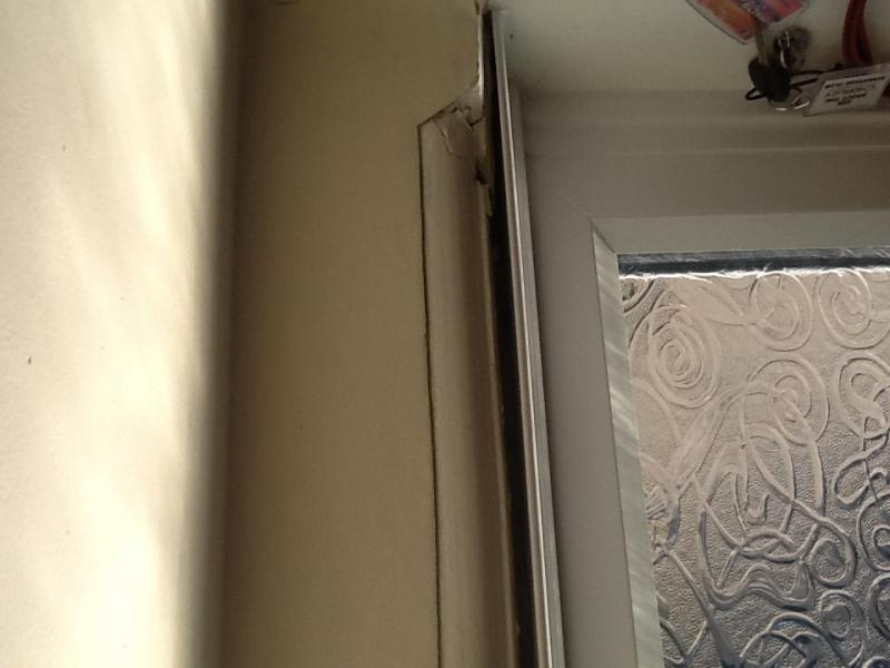 Hi, I Had A New Arch Window And Door Fitted Last Month And There Is A Large  Gap Been Left Between The Upvc Frame Trim And The Plaster.