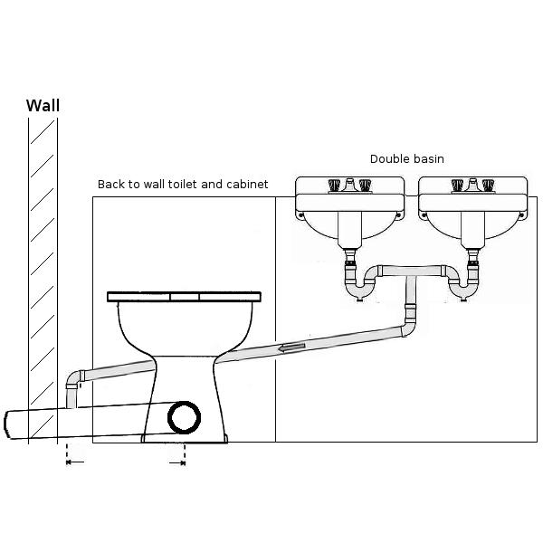 Double Basin Waste Into Toilet Soil Pipe Plumbing Diynot