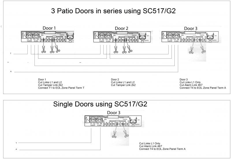 door in contact series wire diagram electrical wiring plugs in a series wiring 3 sc517/g2 in series and also one stand texecom 48 ... #8