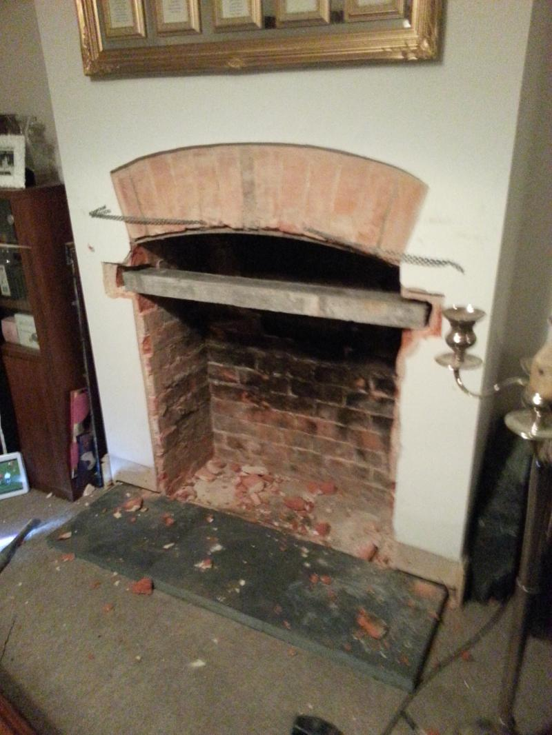 retrofitting a fireplace builder u0027s opening too large solved