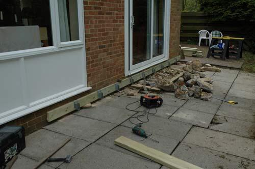 Exceptional Decking Over Uneven And Split Level Patio
