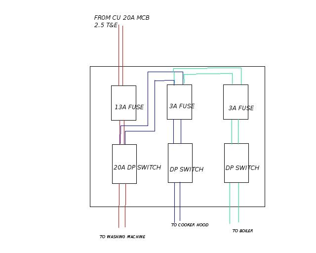 How Many Fused Spurs From A Single Junction Box DIYnot Forums - Wiring a grid switch