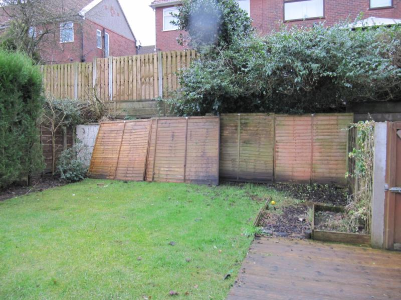 Our House Is On A Hill So The Gardens Of Adjacent Houses Step Down And There Wall Between