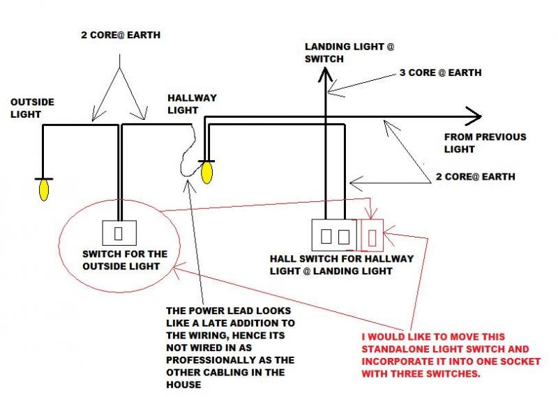 Hallway Light Wiring Diagram | Wiring Diagram | Article Review on circuit diagram, light switch with receptacle, electrical outlets diagram, light switch piping diagram, light switch cover, light switch timer, wall light switch diagram, light switch power diagram, light switch installation, light switch cabinet, dimmer switch installation diagram,