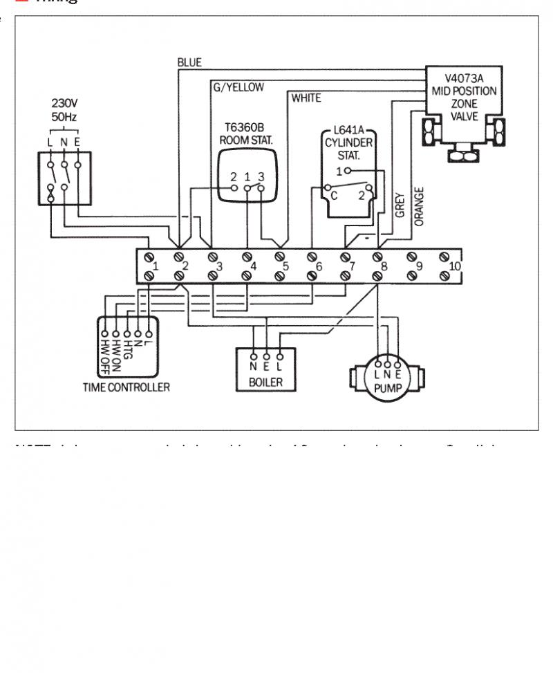 Central heating wiring diagram | DIYnot Forums on
