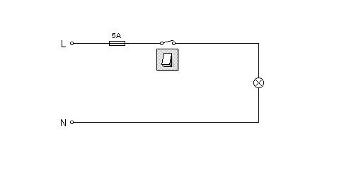 electrics:single way lighting 1 way circuit diagram