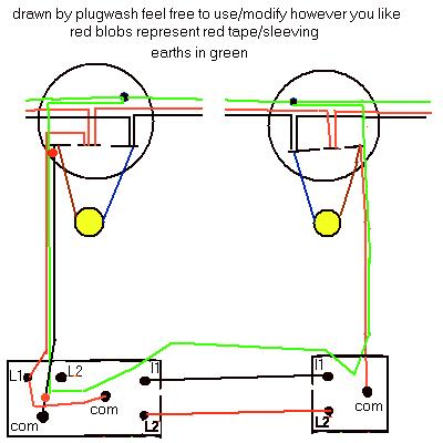 Electrics two Way Lighting on two way switching wiring diagram