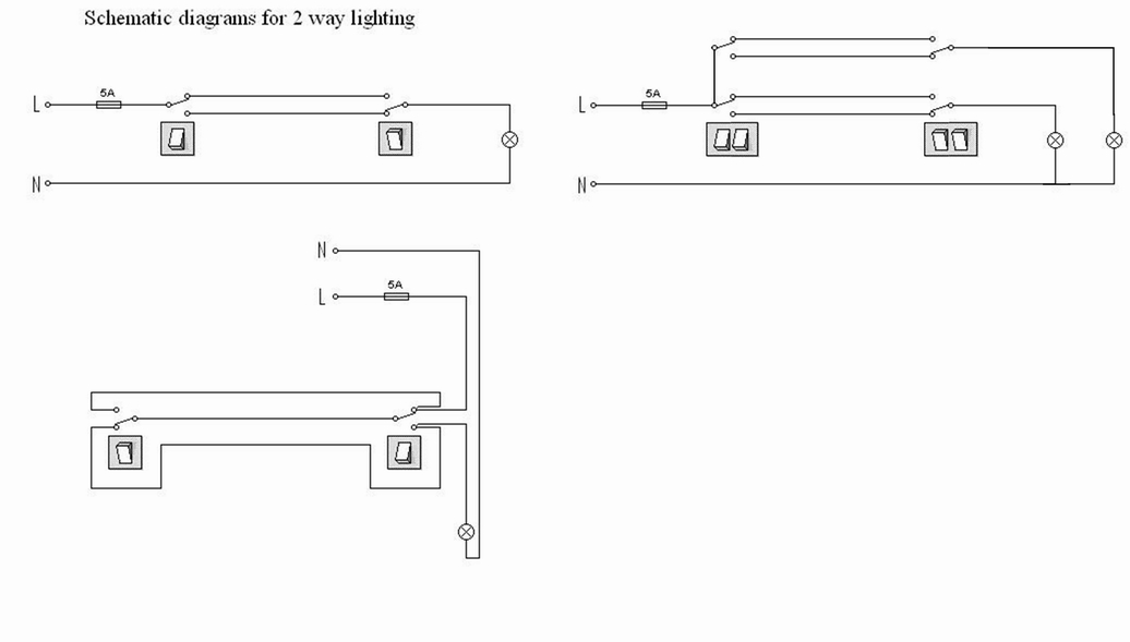 ElectricsTwo way lighting – 2 Way Switching Wiring Diagram